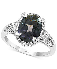 EFFY® Gray Spinel (3-1/4 ct. t.w.) & Diamond (1/4 ct. t.w.) Ring in 14k White Gold