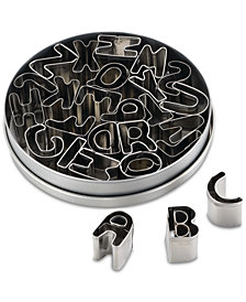 Cake Boss 26-Pc. Stainless Steel Alphabet Fondant & Cookie Cutter Set