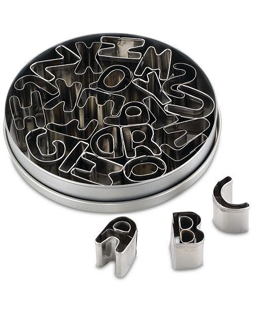Cake Boss 26-Pc. Stainless Steel Alphabet Fondant & Cookie Cutter Set