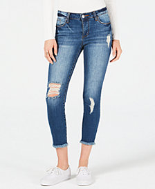 STS Blue Emma Frayed Cropped Skinny Jeans