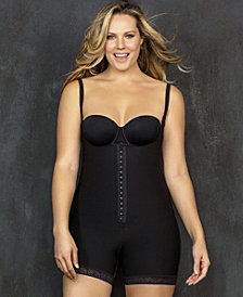 Firm Compression Front Hook Boyshort Body Shaper with Butt Lifter