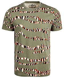 American Rag Men's Tiger Camo Striped T-Shirt, Created for Macy's