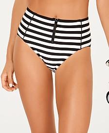 kate spade new york High-Waisted Bikini Bottoms