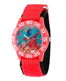 Disney Finding Dory Nemo, Hank and Dory Boys' Red Plastic Time Teacher Watch