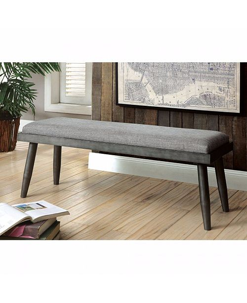 Benzara Mid-Century Modern Style Bench