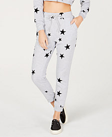 Material Girl Juniors' Flocked Sweatpants, Created for Macy's