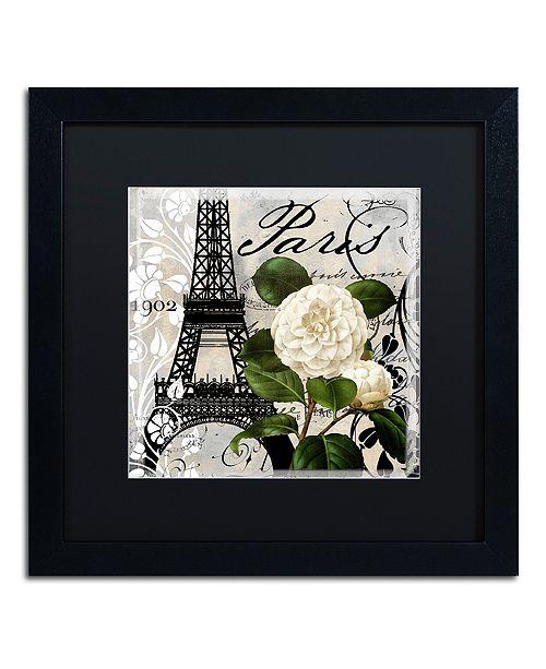 "Trademark Global Color Bakery 'Paris Blanc I' Matted Framed Art, 16"" x 16"""