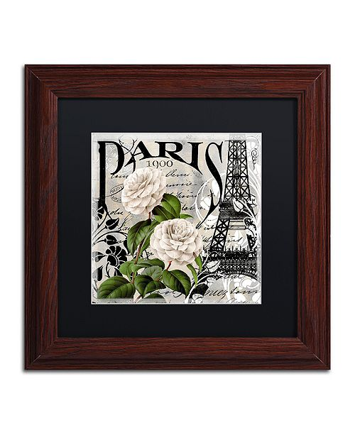 "Trademark Global Color Bakery 'Paris Blanc Ii' Matted Framed Art, 11"" x 11"""