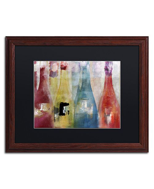 "Trademark Global Color Bakery 'Bouteilles Ii' Matted Framed Art, 16"" x 20"""