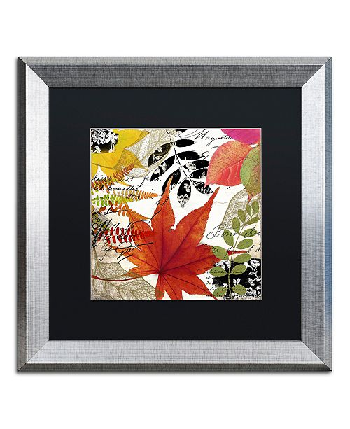 "Trademark Global Color Bakery 'Equinox Ii' Matted Framed Art, 16"" x 16"""