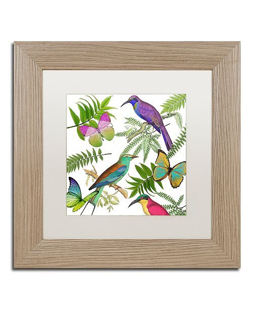 "Trademark Global Color Bakery 'Walking On Air I' Matted Framed Art, 11"" x 11"""