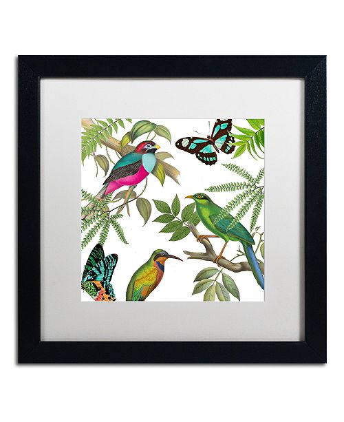 """Trademark Global Color Bakery 'Walking On Air Ii' Matted Framed Art, 16"""" x 16"""""""