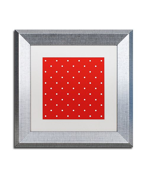 "Trademark Global Color Bakery 'Aria Iii' Matted Framed Art, 11"" x 11"""