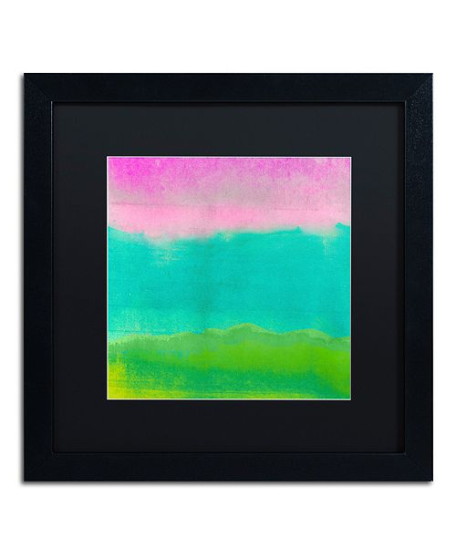 "Trademark Global Color Bakery 'Gradients I' Matted Framed Art, 16"" x 16"""