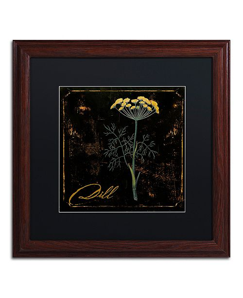 "Trademark Global Color Bakery 'Black Gold Herbs I' Matted Framed Art, 16"" x 16"""