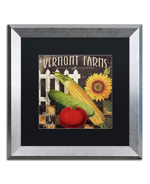 """Trademark Global Color Bakery 'Vermont Farms Vii' Matted Framed Art, 16"""" x 16"""""""
