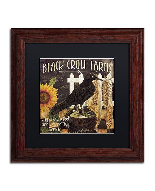 """Trademark Global Color Bakery 'Vermont Farms X' Matted Framed Art, 11"""" x 11"""""""