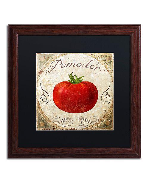 "Trademark Global Color Bakery 'Mangia Ii' Matted Framed Art, 16"" x 16"""