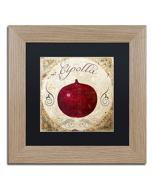 "Trademark Global Color Bakery 'Mangia Iv' Matted Framed Art, 11"" x 11"""
