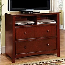 Contemporary Style Wooden Media Chest, White