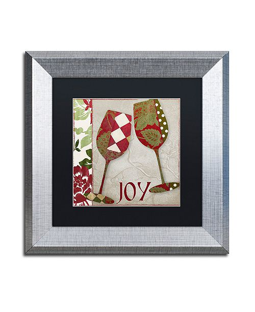 """Trademark Global Color Bakery 'Holiday Cheer One' Matted Framed Art, 11"""" x 11"""""""