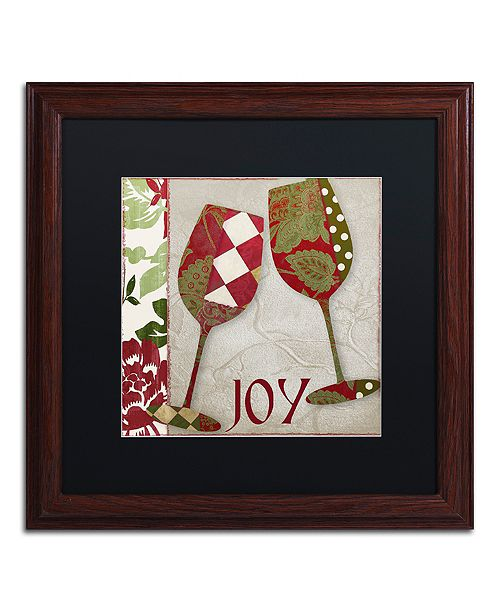 """Trademark Global Color Bakery 'Holiday Cheer One' Matted Framed Art, 16"""" x 16"""""""