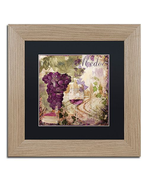 """Trademark Global Color Bakery 'Wine Country Iv' Matted Framed Art, 11"""" x 11"""""""