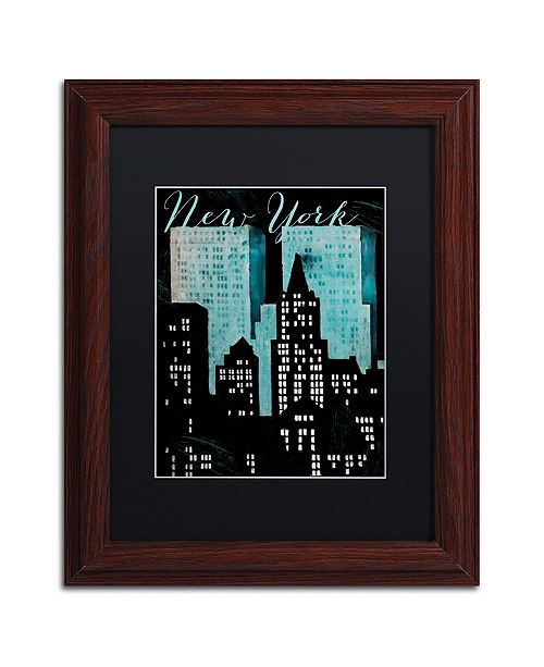 """Trademark Global Color Bakery 'Retro Cities I' Matted Framed Art, 11"""" x 14"""""""
