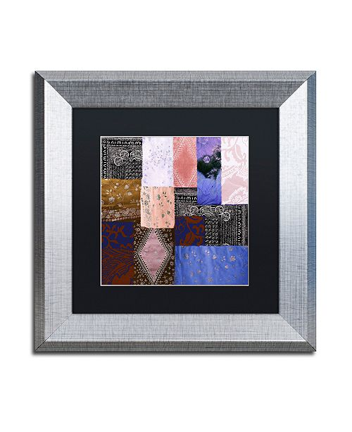 "Trademark Global Color Bakery 'Afrikan Batik Iv' Matted Framed Art, 11"" x 11"""