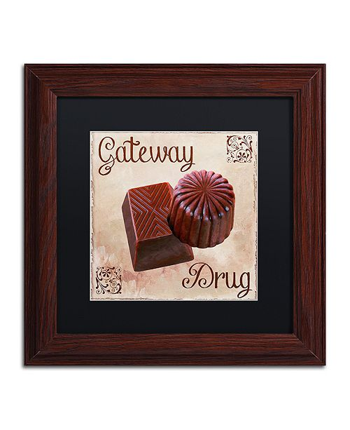 "Trademark Global Color Bakery 'Chocolate Therapy Ii' Matted Framed Art, 11"" x 11"""