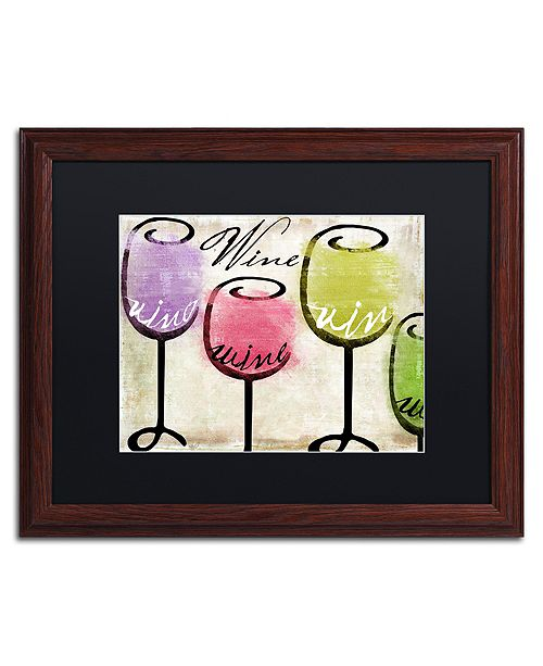 "Trademark Global Color Bakery 'Wine Tasting Iii' Matted Framed Art, 16"" x 20"""