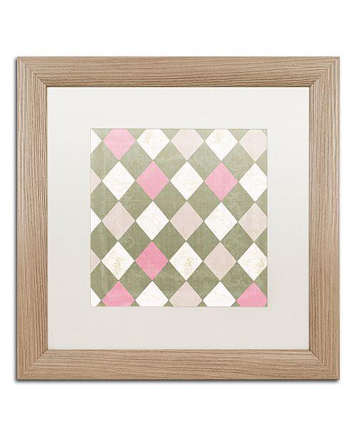 "Trademark Global Color Bakery 'Hyacinth Iii' Matted Framed Art, 16"" x 16"""