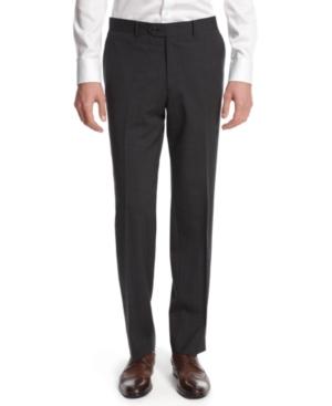 Bar Iii Dark Charcoal Slim-Fit Pants
