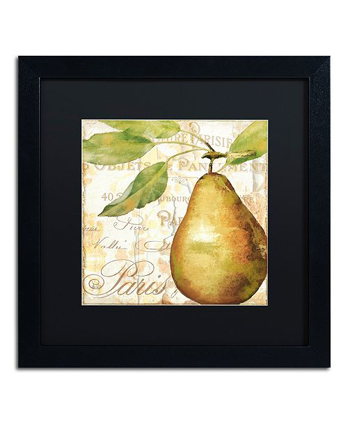 "Trademark Global Color Bakery 'Cafe D?Or Vi' Matted Framed Art, 16"" x 16"""