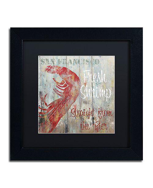 """Trademark Global Color Bakery 'Restaurant Seafood I' Matted Framed Art, 11"""" x 11"""""""