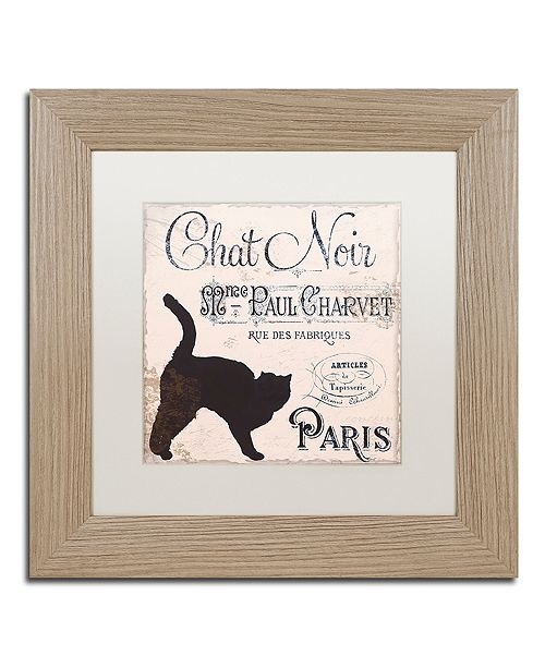 """Trademark Global Color Bakery 'Les Chats Ii' Matted Framed Art, 11"""" x 11"""""""
