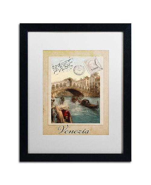 """Trademark Global Color Bakery 'European Vacation I' Matted Framed Art, 16"""" x 20"""""""