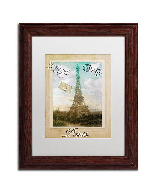 """Trademark Global Color Bakery 'European Vacation Ii' Matted Framed Art, 11"""" x 14"""""""