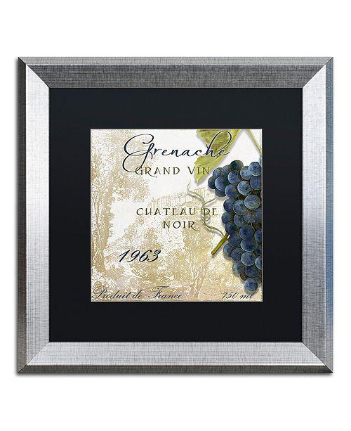"""Trademark Global Color Bakery 'Grand Vin Grenache' Matted Framed Art, 16"""" x 16"""""""