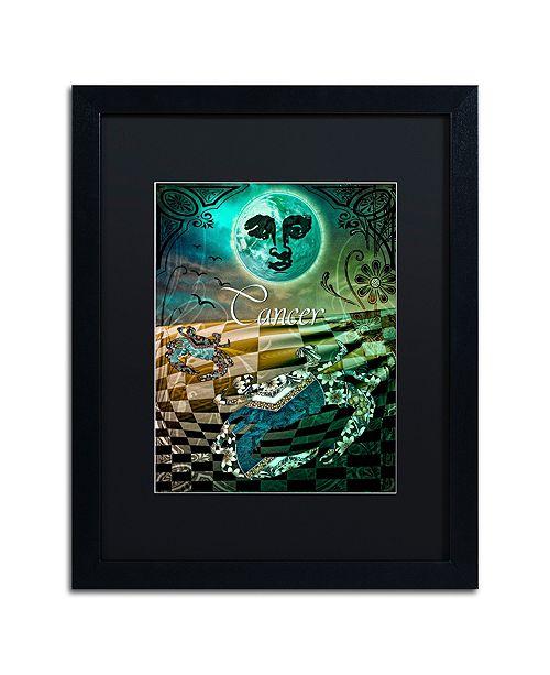 "Trademark Global Color Bakery 'Art Nouveau Zodiac Cancer' Matted Framed Art, 16"" x 20"""