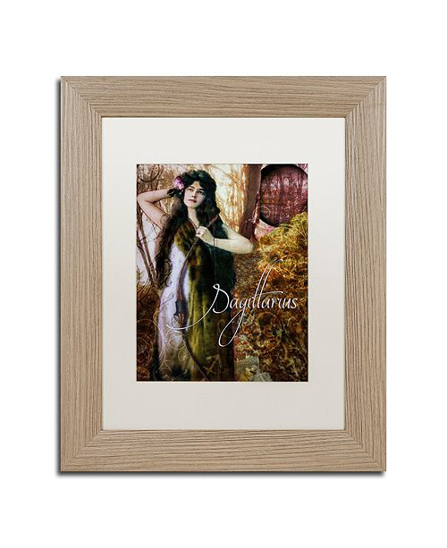 "Trademark Global Color Bakery 'Art Nouveau Zodiac Sagittarius' Matted Framed Art, 11"" x 14"""