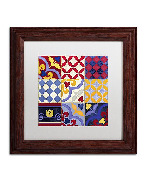 "Trademark Global Color Bakery 'Poulets Iii' Matted Framed Art, 11"" x 11"""