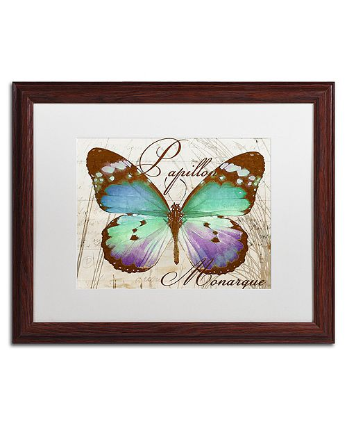 "Trademark Global Color Bakery 'Papillon I' Matted Framed Art, 16"" x 20"""