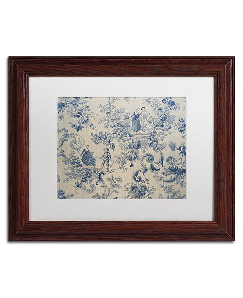 "Trademark Global Color Bakery 'Toile Fabrics I' Matted Framed Art, 11"" x 14"""