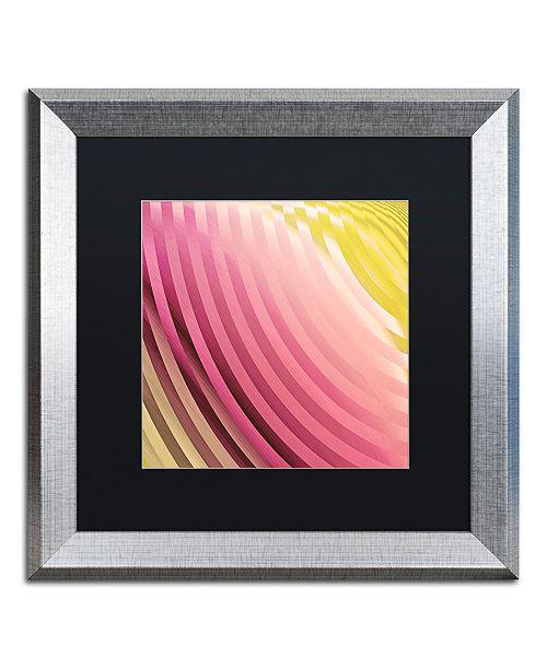 "Trademark Global Color Bakery 'Satin V' Matted Framed Art, 16"" x 16"""