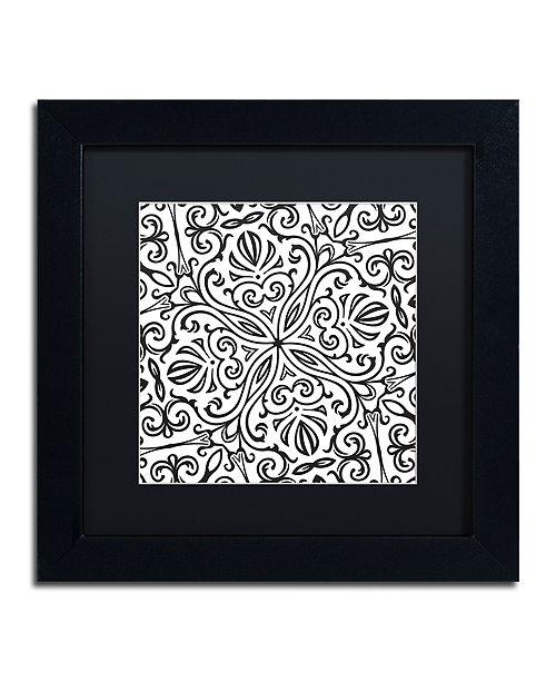 "Trademark Global Color Bakery 'Suriah Ii' Matted Framed Art, 11"" x 11"""