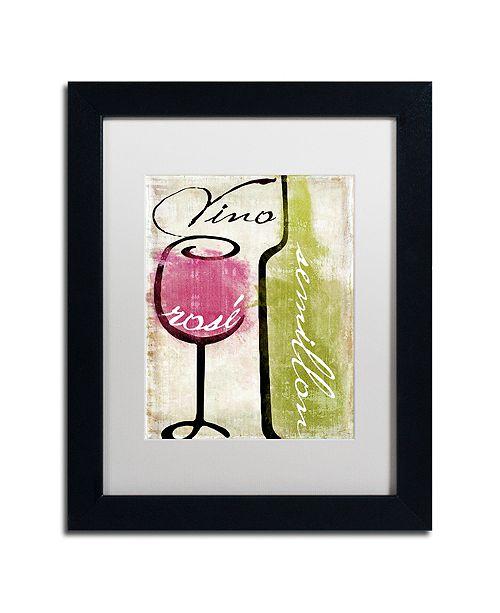 "Trademark Global Color Bakery 'Wine Tasting Iv' Matted Framed Art, 11"" x 14"""