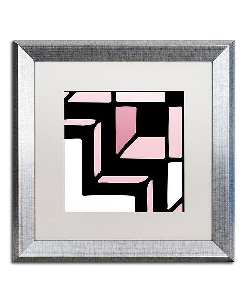 "Trademark Global Color Bakery 'Daring Deco Ii' Matted Framed Art, 16"" x 16"""