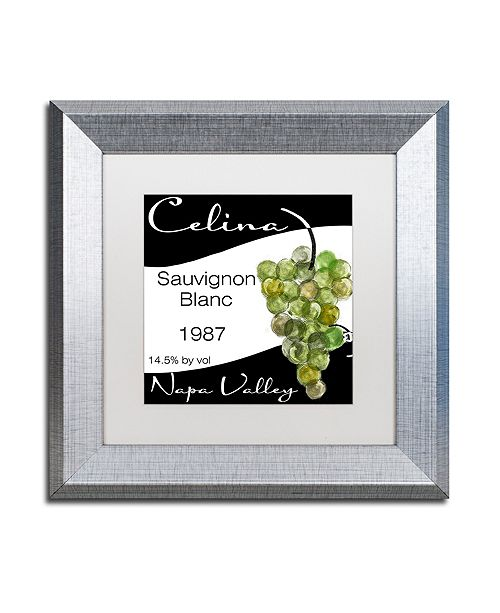 "Trademark Global Color Bakery 'Wine Valley One' Matted Framed Art, 11"" x 11"""