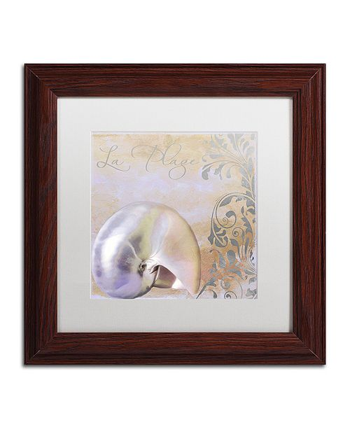 """Trademark Global Color Bakery 'Painted Sea Iv' Matted Framed Art, 11"""" x 11"""""""